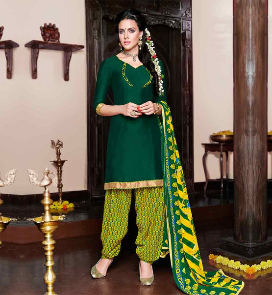 PATIALA SUIT DESIGN OF PANJABI SALWAR KAMEEZ NEW PATTERN OF DRESS