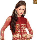 DELIGHTFUL MAROON OCCASION WEAR ANARKALI SUIT RTBIN8007A