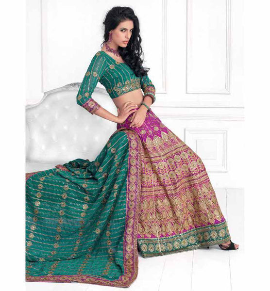 ARRESTING BRIDAL LEHENGA CHOLI RTXL8007A - STYLISHBAZAAR - bridal dresses online, indian bridal dresses, indian bridal wear, indian bridal clothing, Bridal Wear Online