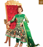 CHARMING GREEN OCCASION WEAR ANARKALI SUIT RTBIN8007B