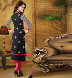 Black Georgette Designer salwar kameez with chiffon dupatta Online Shopping India