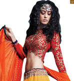 FROM THE HOUSE  OF STYLISH BAZAAR  ADORABLE EMBROIDERED 3 PIECE LEHENGA CHOLI DESIGN RTSEL801