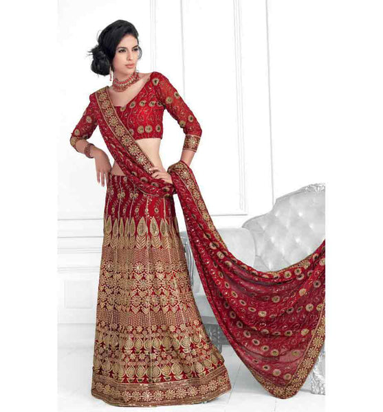 EYE-CATCHING DESIGNER BRIDAL LEHENGA CHOLI RTXL8010C - Stylishbazaar - Indian wedding Lehenga Choli, Wedding Lehenga Choli Online, Lehenga Choli for Wedding, online wedding Lehenga Choli, online shopping for wedding Lehenga Choli, indian wedding clothing, embroidered wedding Lehenga Choli