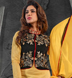 SALWAR SUIT WITH CONTRAST SHORT JACKET