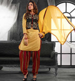 SHOP KOTI STYLE NEW FASHION CHANDERI COTTON INDIAN SALWAR KAMEEZ