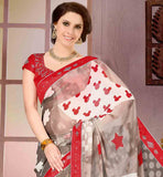 GREY-AND-OFF-WHITE-GEORGETTE-SARI-WITH-RED-PURE-DUPION-BLOUSE-THIS-SARI-HAS-EXCITING-PRINT-WORK-ALL-OVER-WITH-STONE-WORK-ON-THE-BORDER.-SMART-MIX-OF-COLORS-AND-EMBELLISHMENTS-ON-BLOUSE-ADDS-MORE-CHARM