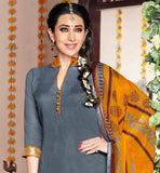 ZUBEDA GIRL KARISHMA KAPOOR GREY DRESS WITH MUSTARD PATIALA