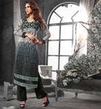 CHIC CHANDERI COTTON STRAIGHT CUT SALWAR KAMEEZ PRINTED DUPATTA