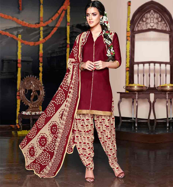 DAILY WEAR PUNJABI SUIT DESIGN OF PATIALA SALWAR KAMEEZ FOR WOMEN