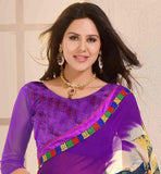 MAGNIFICENT-PURPLE-GEORGETTE-SARI-WITH-MATCHING-BLOUSE-PREMIUM-QUALITY-AND-STYLISH-LOOK-SAREE-WITH-HIGH-QUALITY-PRINT-WORK-AND-EXCELLENT-BLOUSE