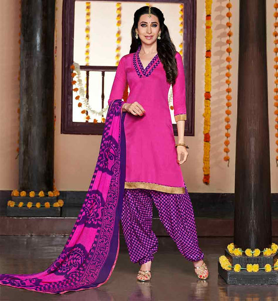 KARISMA KAPOOR DAILY WEAR COMFORTABLE AND STYLISH PATIALA DRESS