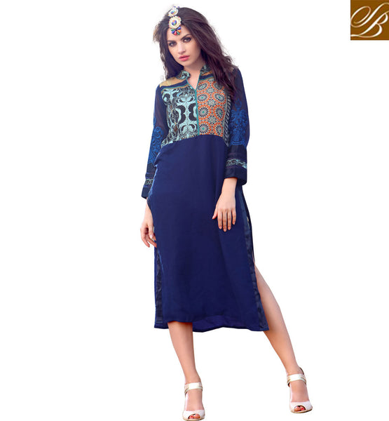 STYLISH BAZAAR FASCINATING GEORGETTE DESIGNER KURTI TAILOR MADE FOR ALL OCCASIONS RTBLM801