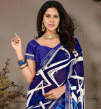 BEAUTIFUL-BLUE-WEIGHTLESS-GEORGETTE-MATERIAL-SARI-WITH-SUPERB-PURE-DUPION-BLOUSE-PREMIUM-QUALITY-AND-RICH-DESIGN-HEAVY-PRINT-WORK-SARI-WITH-ATTRACTIVE-BLOUSE