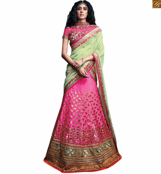 STYLISH BAZAAR INTRODUCES ROYAL PINK EMBROIDERED DESIGNER LEHENGA BLOUSE RTSEL804