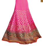 FROM THE HOUSE  OF STYLISH BAZAAR ROYAL PINK EMBROIDERED DESIGNER LEHENGA BLOUSE RTSEL804
