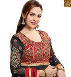 SHOP BOLLYWOOD ANARKALI SUIT AT CHEAP RATES ESHA DEOL DAZZLING BLACK DRESS