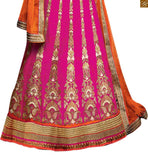 STYLISH BAZAAR PRESENTS CAPTIVATING PINK AND GREEN LEHENGA BLOUSE RTSEL808