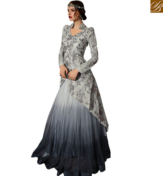 STYLISH BAZAAR ATTRACTIVE GREY COLORED MODERN STYLE SUIT SLSKR8101