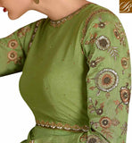 BEAUTIFUL DESIGNED GREEN COLORED SUIT WITH ATTRACTIVE EMBROIDERY WORK SLSKR8104