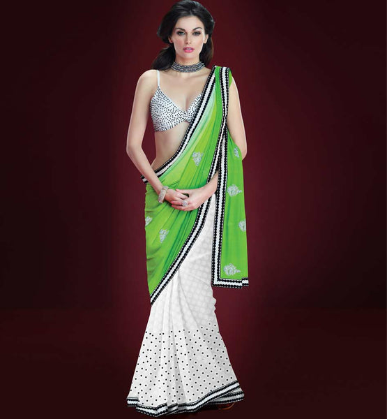 EXCITING GEORGETTE & VISCOSE CASUAL WEAR SAREE RTAH823
