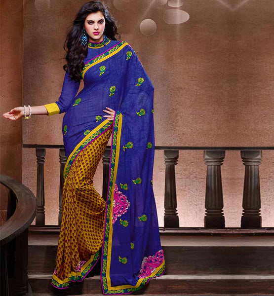 FANCY GEORGETTE PRINTED DESIGNER SAREE
