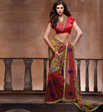 STYLISH CHIFFON PRINTED DESIGNER SAREE