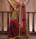 Printed Indian Chiffon Saris Online Shop
