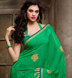 green casual sari