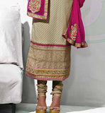 Shop online beautiful cotton salwar kameez dress material cream
