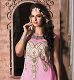 BEAUTIFUL PINK GOWN WITH EMBROIDERY
