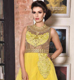 EXCELLENT YELLOW PARTY & WEDDING WEAR GOWN