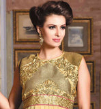 AWESOME BEIGE NEW FASHION GOWN