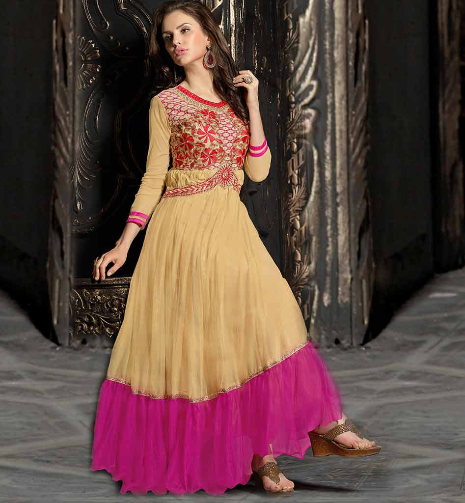 ONLINE SALE NEW FASHION BOLLYWOOD STYLE EMBROIDERED EVENING GOWN VDMEE