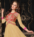 BOLLYWOOD DIVA STYLE DUAL COLOR EMBROIDERED GOWN AT STEAL AWAY RATES