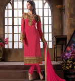 2015 DESIGN LADIES WEAR SALWAR KAMEEZ DRESS MATERIAL SHOP ONLINE DARK PINK