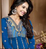 RAKUL PREET SINGH ANARKALI SALWAR KAMEEZ DRESS SHOP BLUE
