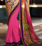 DIGITAL PRINT PARTY WEAR SAREES ONLINE SHOPPING INDIA STYLISH BAZAAR