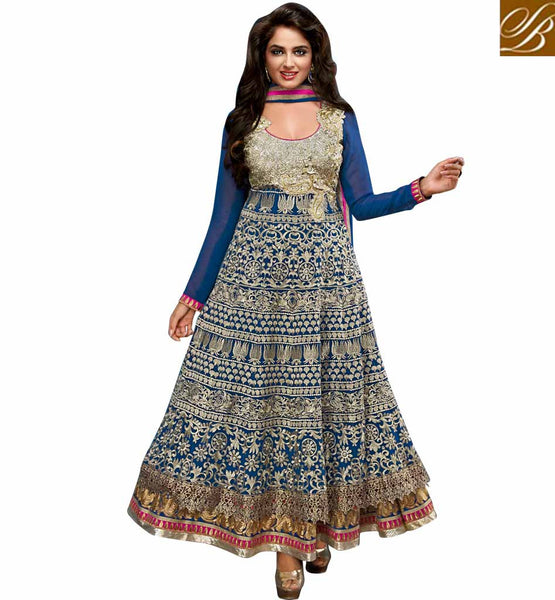 9001 BELA FASHIONS SURAT BLUE ANARKALI