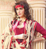 EXCELLENT PUNJABI SUIT WITH PRINTED BOTTOM & ODHNI
