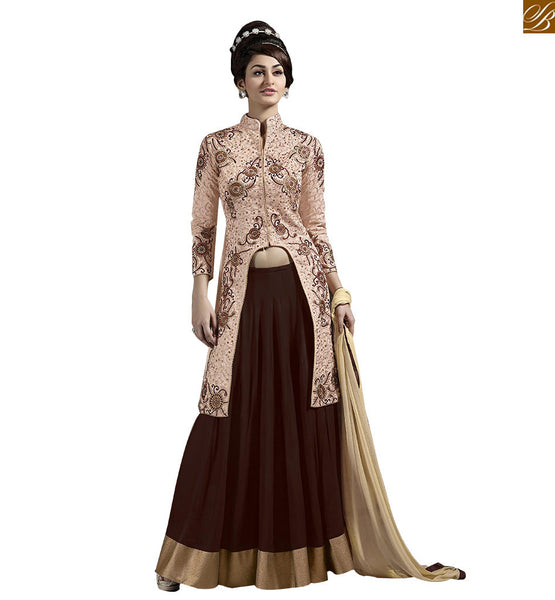 STYLISH BAZAAR  EXCEPTIONALLY BEAUTIFUL DESIGNER LEHENGA SARI VDKYA9001