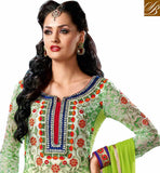 SHOP ONLINE DESIGNER INDIAN PURE GEORGETTE STRAIGHT CUT SALWAR SUIT BLFS9002