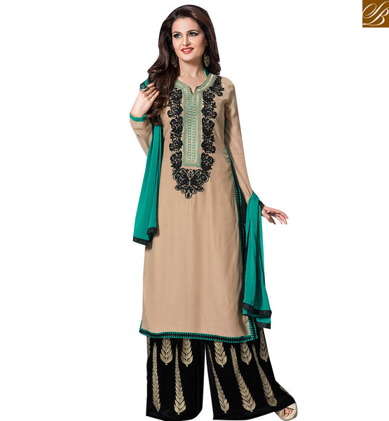 STYLISH BAZAAR BOLLYWOOD STARLET MONICA BEDI IN PLAZO STYLE DESIGN VDHNY9002