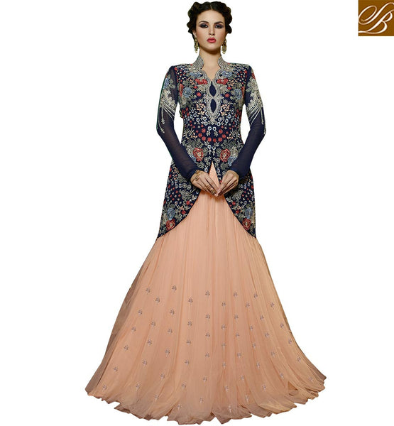 STUNNING DESIGNER BRIDAL WEAR GHAGHRA CHOLI GLS59002 BY BLUE