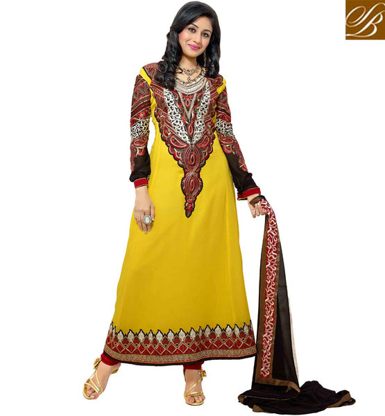 STYLISH PARTY WEAR ANARKALI SALWAR KAMEEZ SUITS ONLINE BUYING INDIA