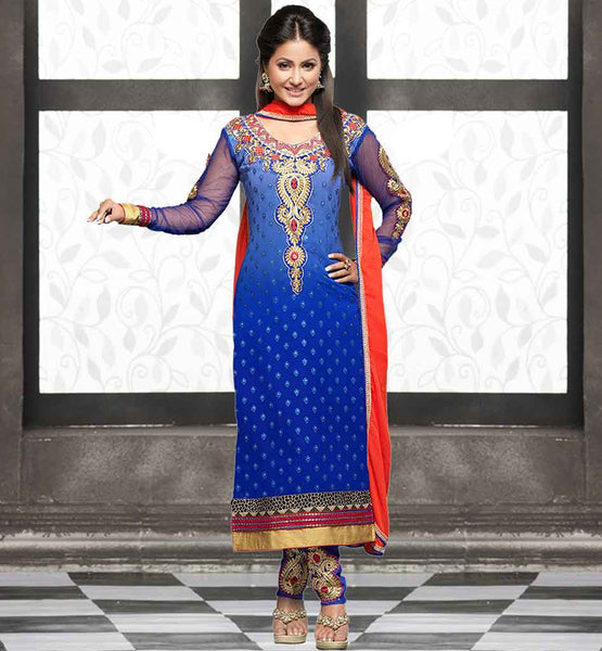 AKSHARA HINA KHAN YEH RISHTA KYA KEHLATA HAI PARTY WEAR SALWAR SUIT