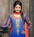 HINA KHAN IN BLUE DRESS