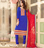PUNJABI SUITS FOR WOMEN CHANDERI COTTON SALWAR KAMEEZ WITH DUPATTA
