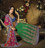 OUT-STANDING NET AND GEORGETTE  DESIGNER PARTY WEAR SAREE 1791