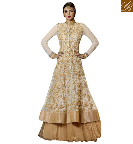 BRILLIANTLY DESIGNED JACKET STYLE BRIDAL SHARARA DESIGN GLS59004 BY BEIGE