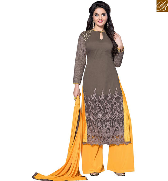 FROM THE HOUSE OF STYLISH BAZAAR BOLLYWOOD HEROINE MONICA BEDI IN ALLURING PUNJABI SUIT DESIGN VDHNY9004